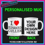 I LOVE HEART EDWARD CULLEN TWILIGHT NEW MOON MUG
